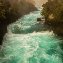 Huka Falls Rapids, Taupo, New Zealand